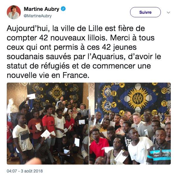 """Aquarius : la France """"prête à aider"""" l'Espagne pour """"accueillir"""" des migrants - Page 6 DjxoyvBWwAA6bG3"""
