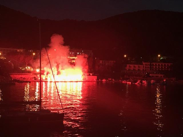 Wedding across the bay in Dubrovnik. As always, Croats do flares better than anyone.