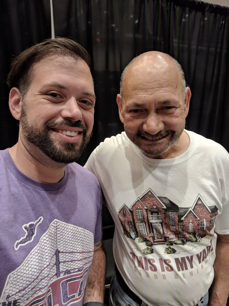 Happy birthday to my man #SeñorBenjamin! One of the nicest people Ive ever met at a wrestling convention. If @RebyHardy ever lets me buy him drinks, were gonna PREPARE THE BATTLEFIELD FOR MASSACRE!