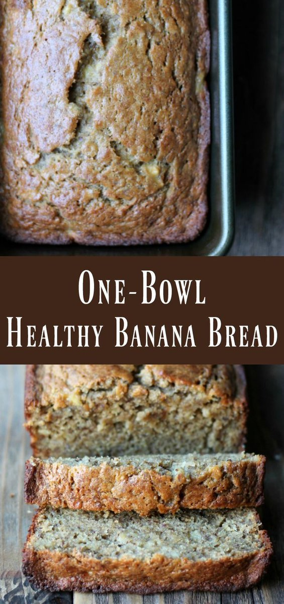 One-bowl Healthy Banana Bread Recipe. This delicious banana bread recipe can be … https://t.co/hhd6GmYUc6 https://t.co/AZvWIvnlmF