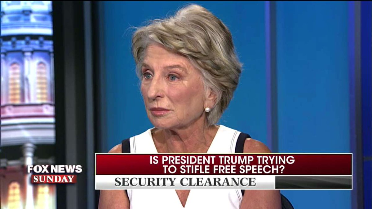 Jane Harman: 'You don't revoke security clearances when there's no violation of classified material.' #FoxNewsSunday