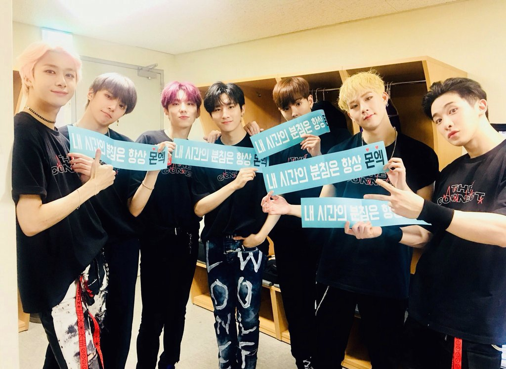 MONSTA X have been flying to 17 different cities since june for the second world tour, in the midst of tour 18 interviews in america in august, kwave3 in malaysia, encore concert and japan tour soon  hope they have some rest now be strong boys just a bit more.  <br>http://pic.twitter.com/3MDktTFOCS