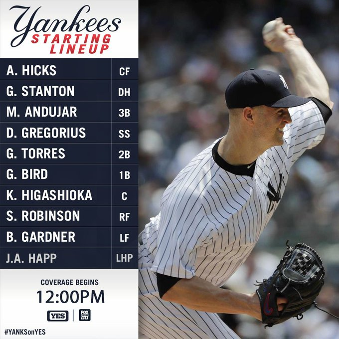 Kick off your #SundayFunday with some New York #Yankees baseball! Game preview: Photo