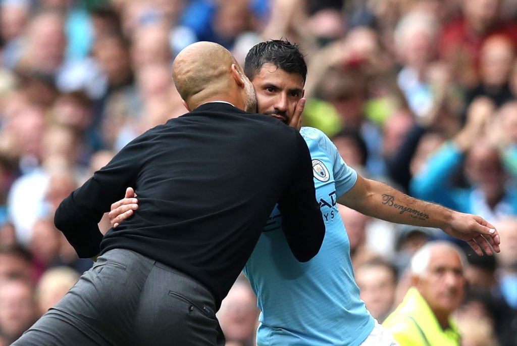 #PEP: Since @aguerosergiokun came back, he came back perfect. He feels free now. He just doesn't score goals, he makes space and doesn't stop and when he does that, he's one of the best, best, best strikers in the world without a doubt! #cityvhudds #mancity