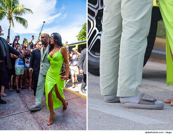 7be071d9c kanye west wears yeezy slides that are way too small at 2 chainzwedding