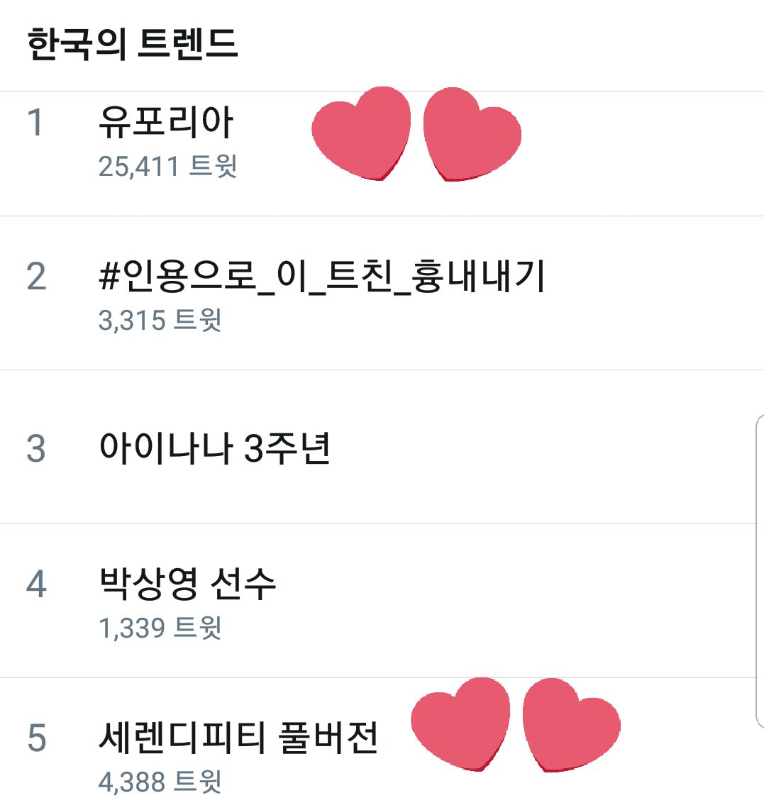 Euphoria currently trending #1 and Serendipity full version #5 in South Korea @BTS_twt<br>http://pic.twitter.com/knzujX210J