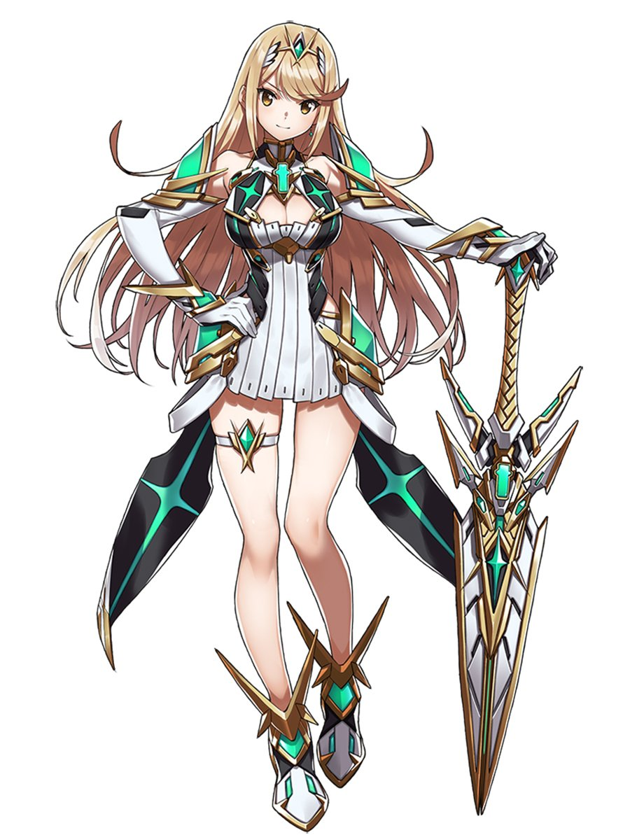 You may recognize this Blade from #XenobladeChronicles2! Mythra is Addam's Blade in Torna ~ The Golden Country, and this time she's 100% herself.  Torna ~ The Golden Country will be available on #NintendoSwitch via the Expansion Pass 9/14, or as a stand-alone physical game 9/21.<br>http://pic.twitter.com/3JxLXgrLUy