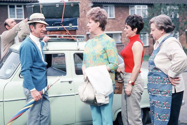 Carry On Sid #10 - Sid Boggle in Carry On Camping (1969) - in which Sid delivers the immortal &#39;talcum powder&#39; line! Carry On Camping was the winner of the inaugural World Cup of Sid James Films last December. #CarryOn60<br>http://pic.twitter.com/RH49ktUsQo
