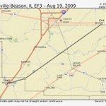 Image for the Tweet beginning: Williamsville-Beason, IL EF3 #Tornado –