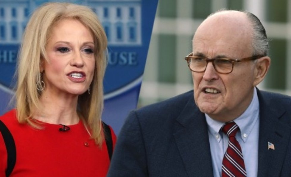 Kellyanne Conway: Alternative facts!   Rudy Giuliani: Truth isn&#39;t truth!  trump: Fake News! What you&#39;re seeing isn&#39;t happening!  Never before, in the history of America, did *leadership* try so hard to convince us that reality is fantasy. #gaslighting<br>http://pic.twitter.com/S9zKujHkPJ