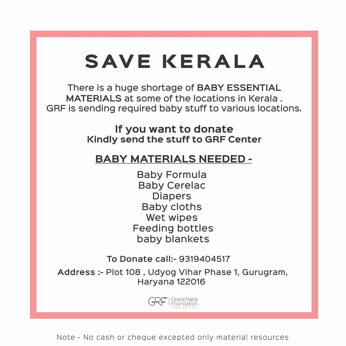 Please help! #donate #KeralaFloods #GRF #Thereforcare