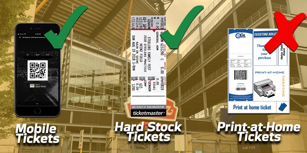 Planning on using your mobile tickets to enter #FamilyFest today? Learn how to view and save your tickets directly through the @steelers mobile app: Steelers.com/mobileticketing