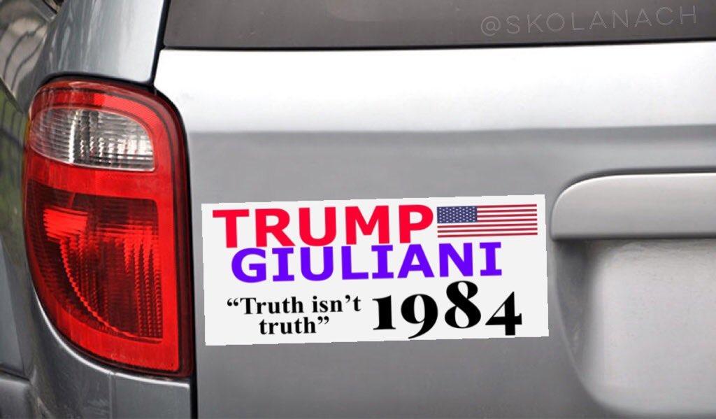 This is beautiful. Donald Trump/ Rudy Giuliani  Truth isn&#39;t truth, 1984.  h/t @skolanach #SundayMorning<br>http://pic.twitter.com/478nBgx9D3