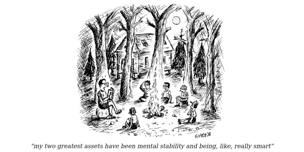 &quot;my two greatest assets have been mental stability and being, like, really smart&quot; #stablegenius <br>http://pic.twitter.com/gqcZQTI86k