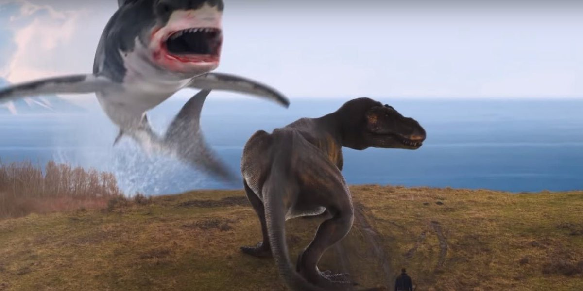 Final #Sharknado Trailer Delivers with a T-Rex Battle, Dragon Sharks buff.ly/2MDn9Zo
