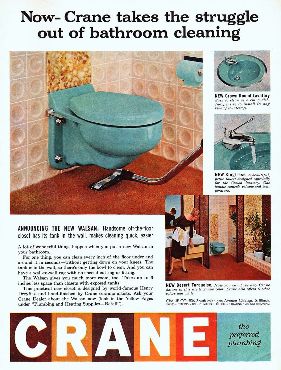 Awesome Vintage Advertisements On Twitter Crane Toilet Ad 1958 Short Links Chair Design For Home Short Linksinfo