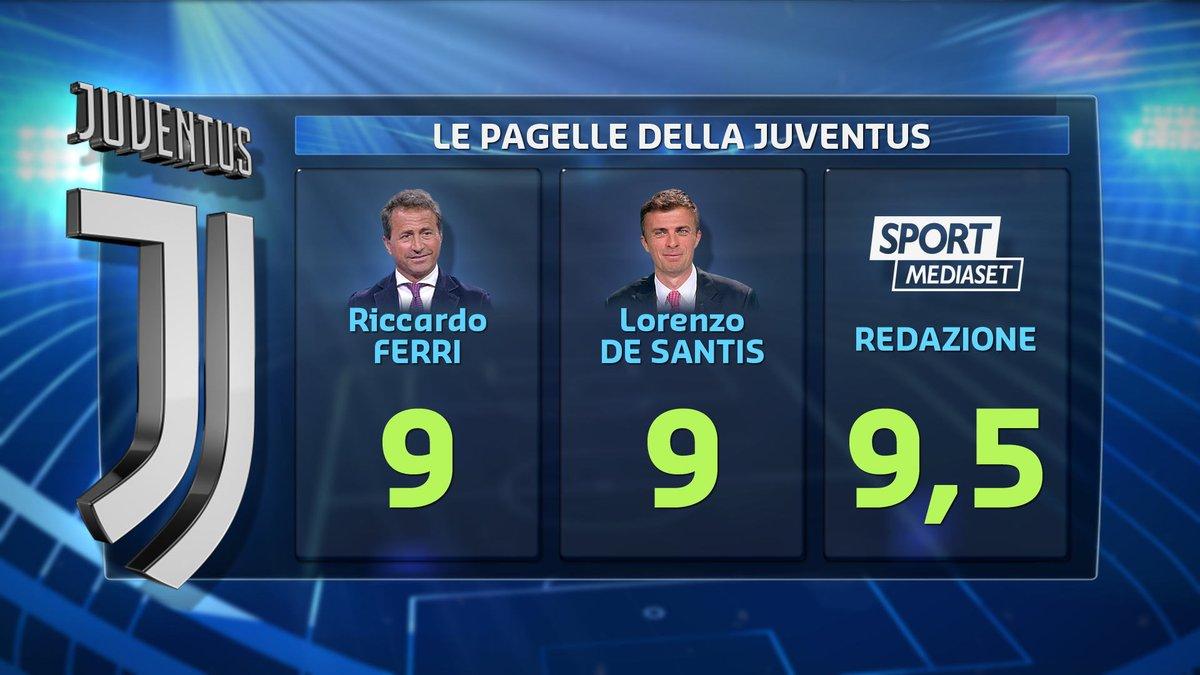 #calciomercatotgcom24Ecco le pagelle della redazione di #SportMediaset, di #RiccardoFerri e di #LorenzoDeSantis sulla #Juventus. Siete d\