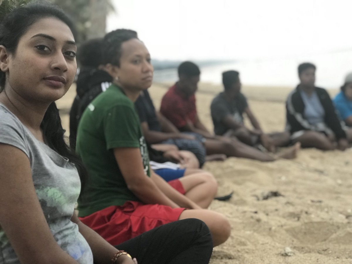 You're stronger than you think but you don't have to be strong all the time! The team meet with 25 young #Heart2Heart leaders at a #talanoa4heart boot camp on Fiji's #CoralCoast