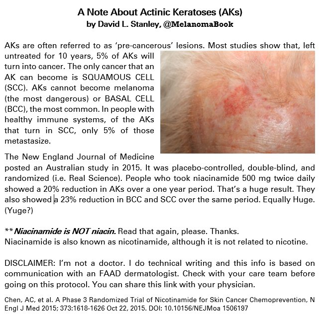 David Stanley On Twitter I Was Thinking About Actinickeratosis Today And Skincancer And Melanoma And Bcc And Scc