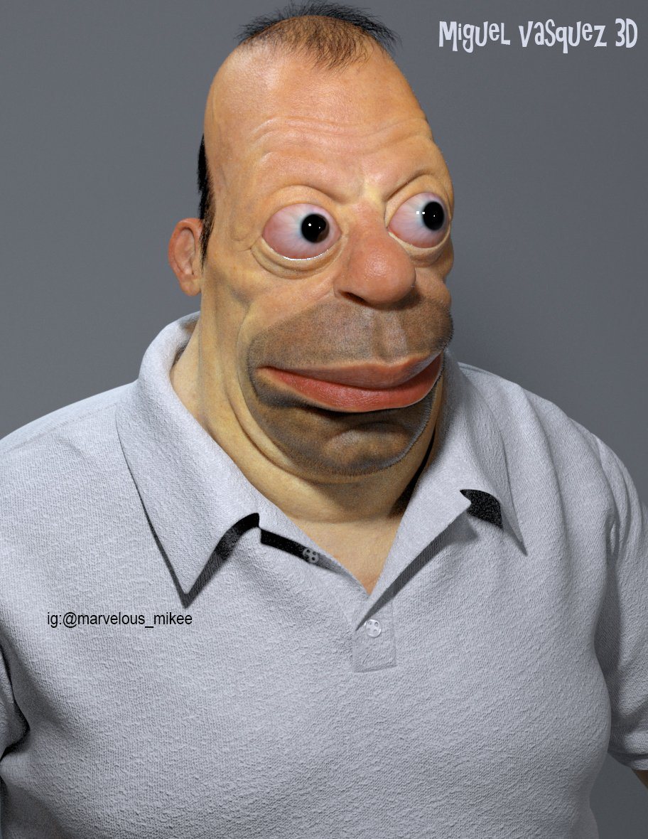 Terrifying 3d Renditions Of What Cartoon Characters Would Look Like