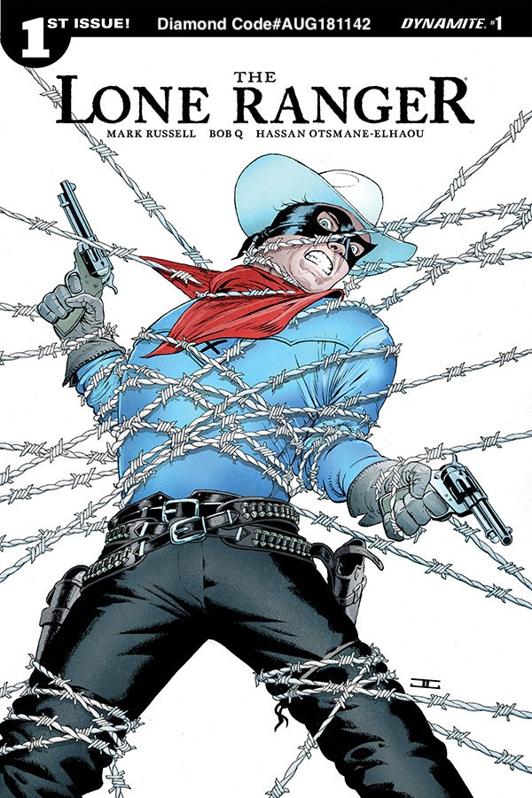 Dynamite Fans Preorder THE LONE RANGER #1 now from your Local Comic Shops. The deadline to turn in your preorder is tomorrow, 8/18. Well help w/ Attached covers & Diamond Order Codes. Enjoy! @Manruss AUG181142 @JohnCassaday AUG181143 @AllredMD AUG181144 @f_francavilla