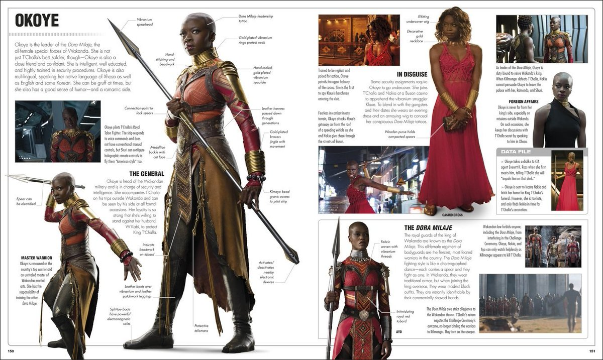I adore @DanaiGurira as Okoye in @theblackpanther & @Avengers: infinity War (and her other work). It was such a thrill to write an entire spread devoted to her character in my upcoming book, @dkpublishings @MarvelStudios Visual Dictionary!