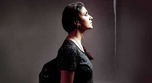 Nayantara shows her back on