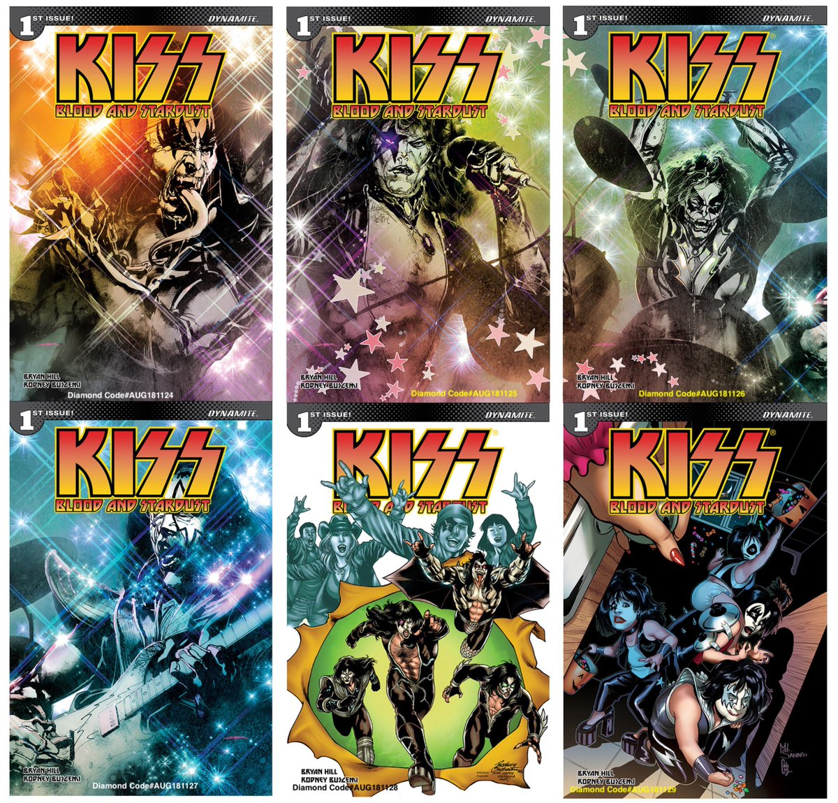 Dynamite Fans Preorder KISS:Blood & Stardust #1 now from your LCS The deadline to preorder is tomorrow, 8/18 Well help w/Attached covers & Diamond Order Codes @bryanedwardhill @KISSOnline AUG181124 @StuartSayger has 4 ...25 ...26 ...27 AUG181128 @RodBuchemi AUG181129 @MLSanapo