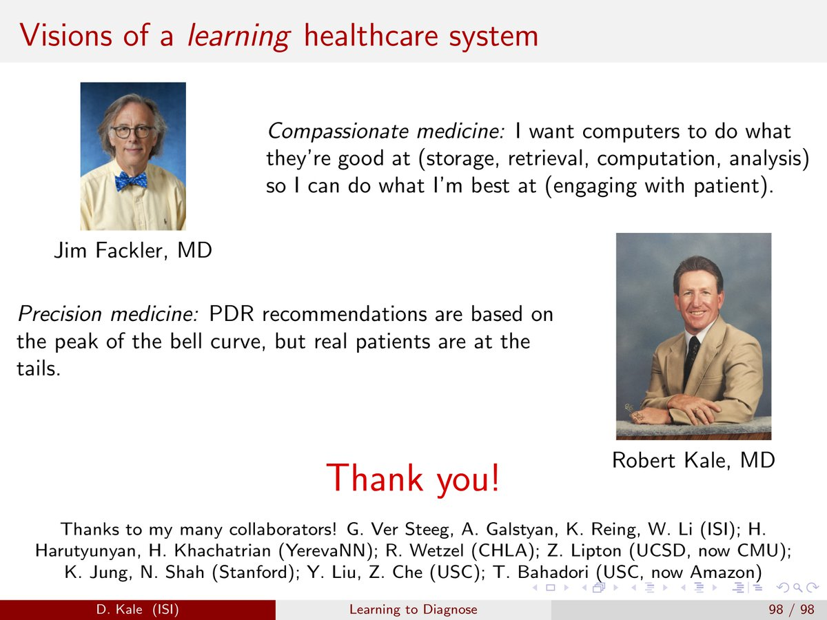 @cuttingforstone @drnigam And here's the last slide, featuring (paraphrased) quotes that have stuck with me from my father and from @jimfackler #mlhc2018 #ml4healthcare