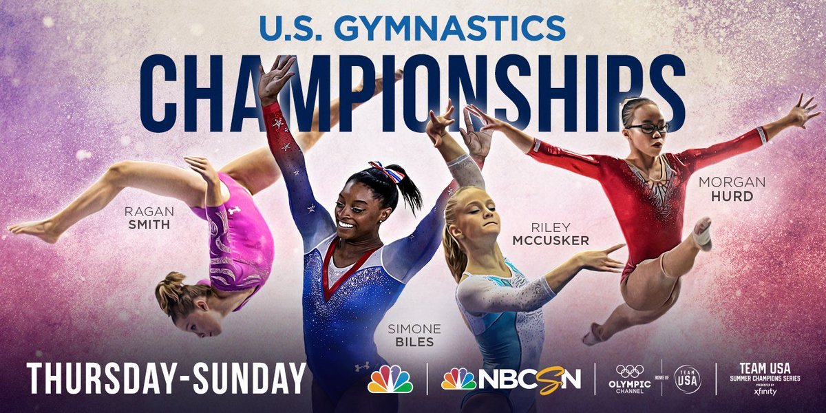 Boston is bound to bring out the best from @USAGyms brightest stars 🌟. Miss the live broadcast? WATCH all the action from day 1️⃣ of the womens competition at 11 p.m. ET on @NBCSN. #USGymChamps   #SCS2018 presented by @Xfinity