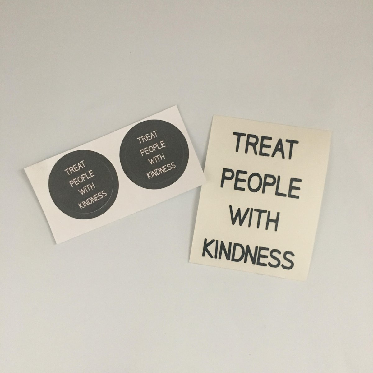 GIVEAWAY! • Treat People With Kindness Stickers  -RT to enter -Must be following -Ends in 48 hours                                      -International shipping   http:// darthstickers.com  &nbsp;  <br>http://pic.twitter.com/r67VtF6p8n