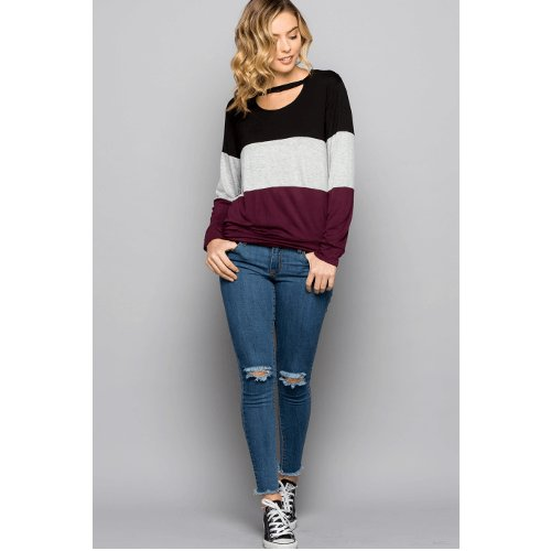 Detailed with a flirty cutout neckline, this long sleeve top offers a chic style to your casual look. Discover more   https:// buff.ly/2IAX77k  &nbsp;  <br>http://pic.twitter.com/2dlFtbEXzT