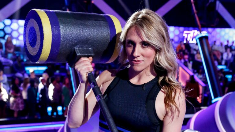 Watch Stefanie Bishop &#39;04 compete on tonight&#39;s episode of &quot;TKO: Total Knock Out&quot; on CBS! More at:  http:// ow.ly/RA1N30lqKX2  &nbsp;   <br>http://pic.twitter.com/5DuJyRUz6G