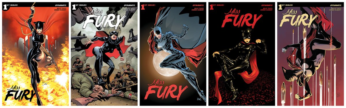 Dynamite Fans Preorder MISS FURY #1 now from your LCS Deadline for preorders is tomorrow 8/18 Well help w/Attached covers & Diamond Order Codes Enjoy @BillyTucci AUG181166 @BillyTucci AUG181167 @EmmaKubert AUG181168 @ledkilla AUG181169 @Mike2112McKone AUG181170 @JanDuursema_art