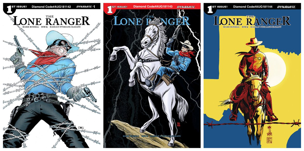 Dynamite Fans Preorder THE LONE RANGER #1 now from your Local Comic Shops The deadline to turn in your preorder is tomorrow, 8/18 Well help w/Attached covers & Diamond Order Codes @Manruss @RobotJQ AUG181142 @JohnCassaday AUG181143 @AllredMD AUG181144 @f_francavilla Enjoy!