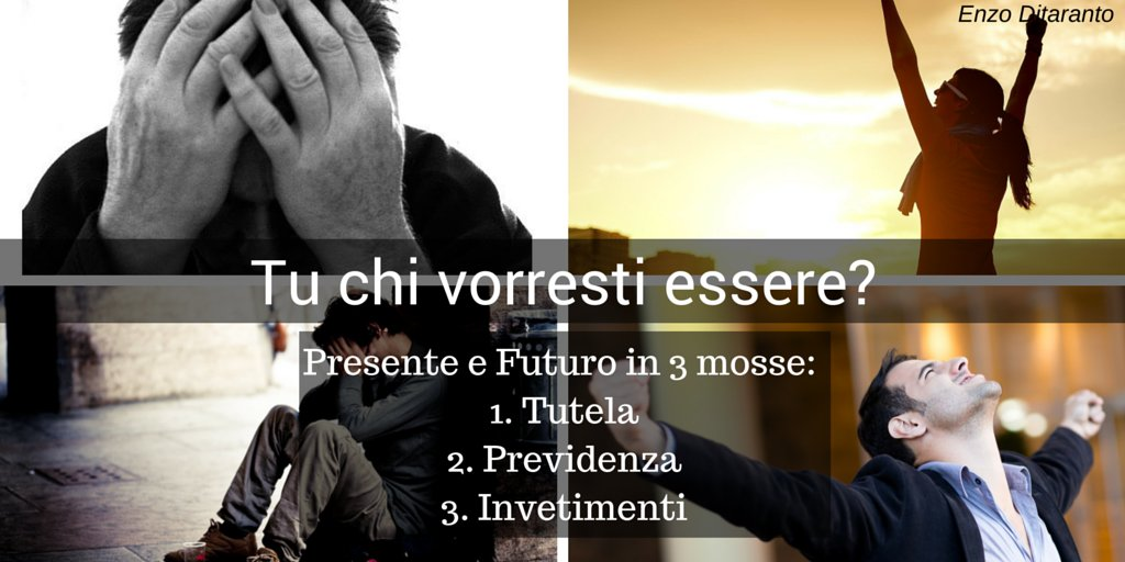 #Presente e #Futuro in 3 mosse! 1. Tutela 2. Previdenza 3. Investimento >> Scopri come su >>  http:// www.enzoditaranto.net  - Ukustom