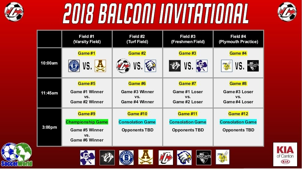 Dating back to the 80&#39;s, the Gary Balconi Invitational is the longest running and highest profile high school soccer Invitational in Michigan. Good luck tomorrow to all of the participating teams!  Presented by: @KiaofCanton and @soccerworldmi<br>http://pic.twitter.com/3a08vZ3nIC