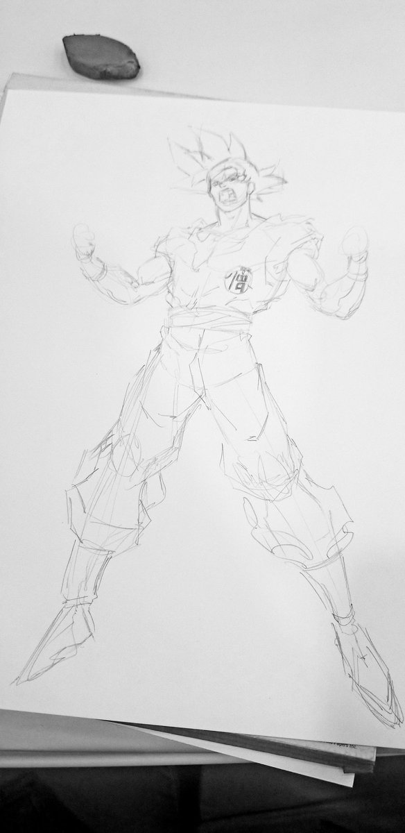 The dude was like &quot;can you draw Goku???&quot;  And I was like, &quot;you have came to the right place my friend.&quot;<br>http://pic.twitter.com/TRFR6cR4nU