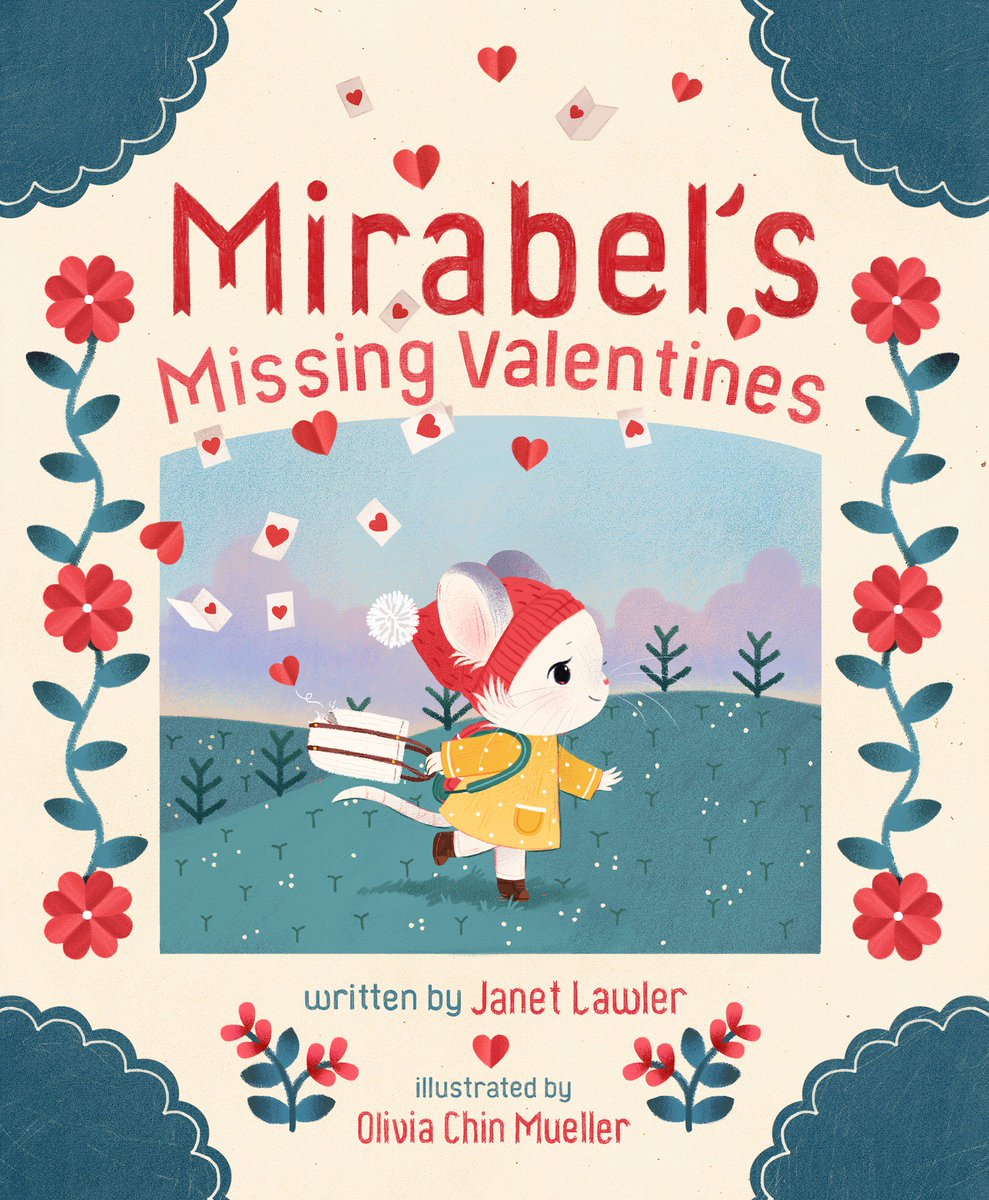 Its a day of cover reveals!! This time for &quot;Mirabels Missing Valentines&quot;, written by Janet Lawler and published by @SterlingKids !!! I got to draw so many cute critters for this book, and ill share more closer to the December publishing date!!<br>http://pic.twitter.com/bx3Uplx1JB