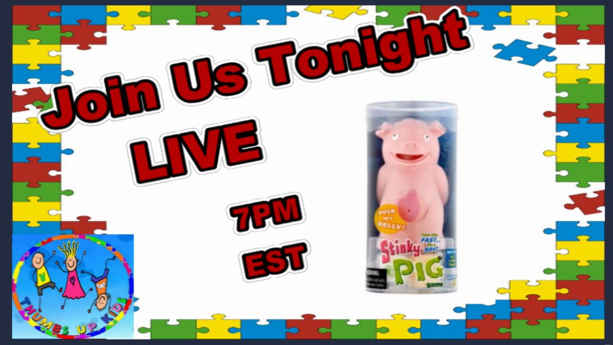 Join us tonight 7PM EST - Let&#39;s chat while we play the Stinky Pig Game by Play Monster  #realthumbsupkids #stinkypiggame #playmonster #creatingmemories #youtubers #iamacreator #wearecreators   @PlayMonsterFun @realthumbsupkid<br>http://pic.twitter.com/jEvkTPqRpj