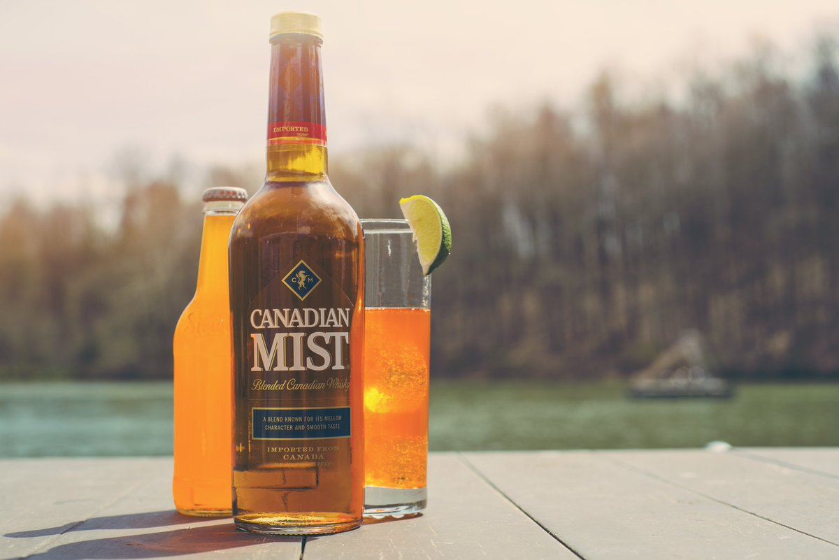 Mist + Soda   1 1/2 oz. Canadian Mist 5 oz. orange soda   In a tall glass filled with ice, combine Canadian Mist and soda. Garnish with a lime wedge. https://t.co/vcLhVXZjEn