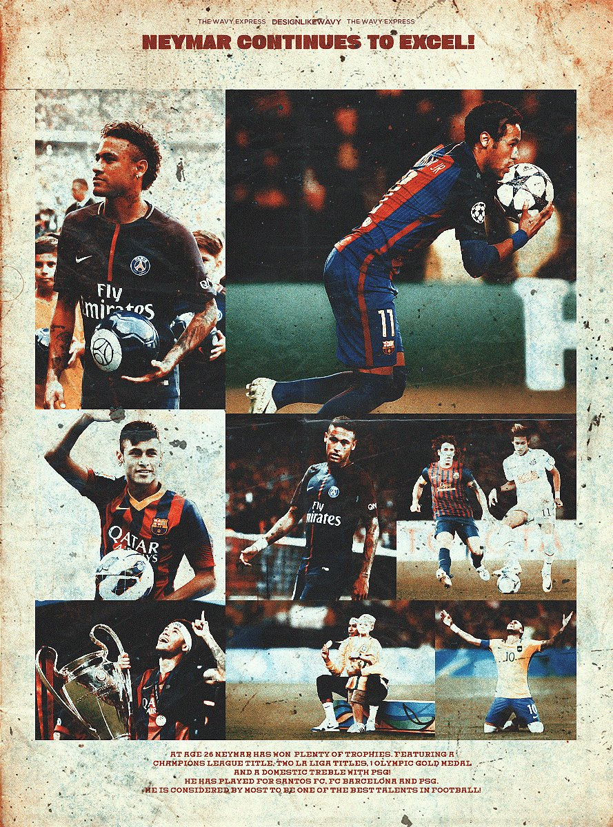 Neymar Continues to Excel!  Vintage Style Neymar Poster!  All Likes and Retweets are Highly Appreciated  <br>http://pic.twitter.com/QiKvPg51un