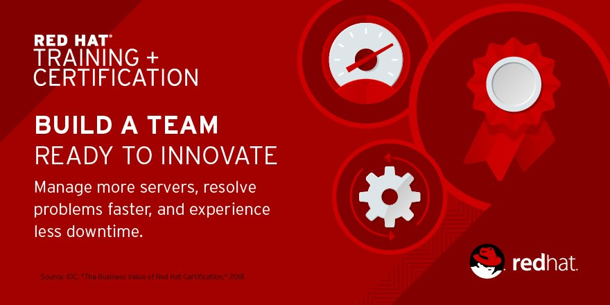 Red Hat Services On Twitter Teams Trained And Certified By Redhat