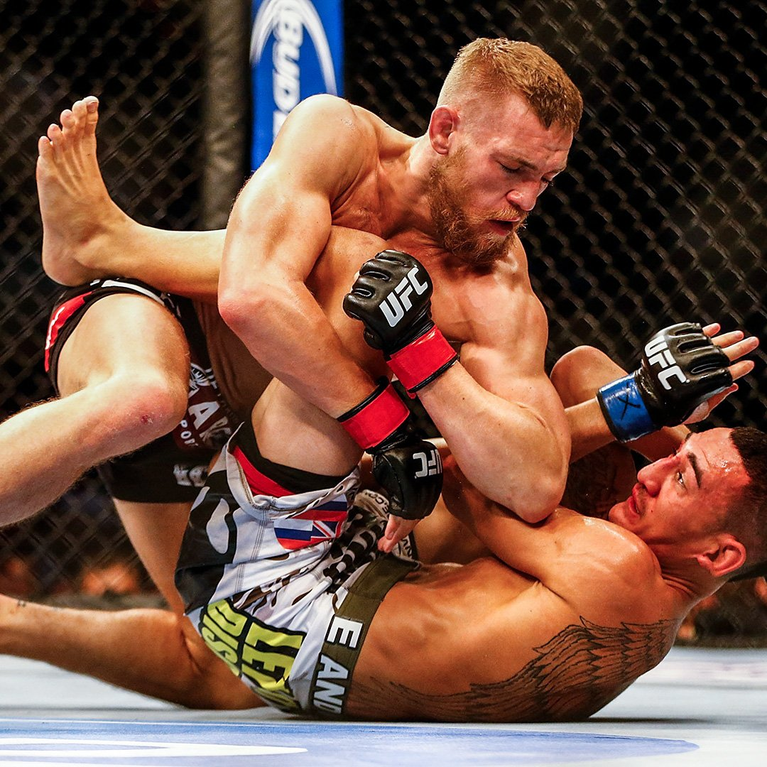 #OnThisDay in UFC History - @TheNotoriousMMA made his second appearance inside the Octagon when he took on current featherweight champ Max Holloway! #UFC229