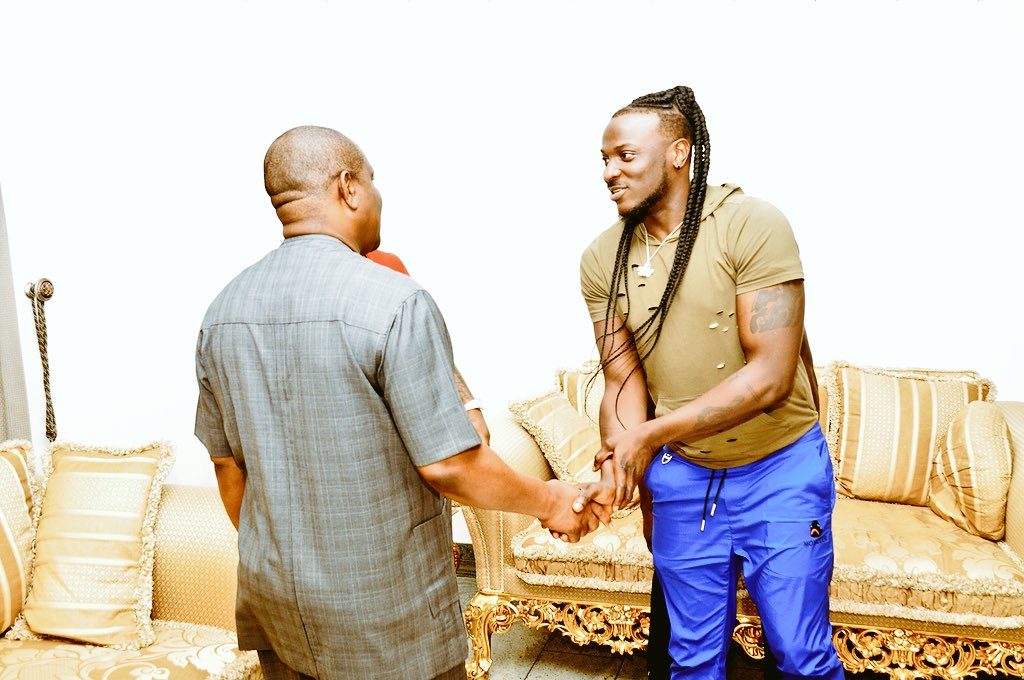 Really honored to have met his Excellency; the Governor of Rivers State with the Baddest @iam_Davido and we let him know there are so many hidden talents in the state that need to be heard. God bless Rivers State <br>http://pic.twitter.com/rR4HeKW38Y
