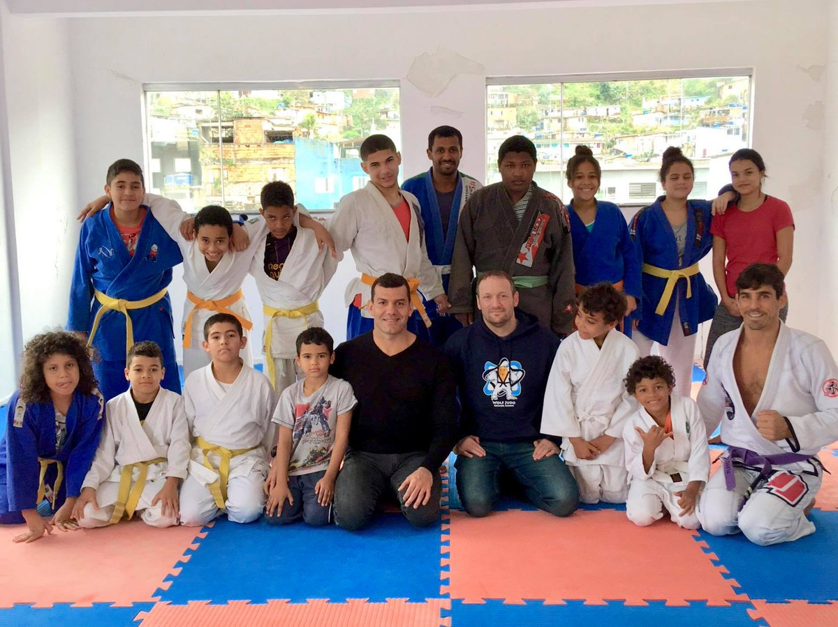 Menomonee Judo Club Sensei Brett Wolf traveled to Guaruja, Brazil to donate gently used gi's to local dojo, Lar Espirta Cristao Elizabeth Association.  Already planning another equipment drive, this is just one more example of the impact judo has across the world. #PositivelyJudo<br>http://pic.twitter.com/tEueknxWM7
