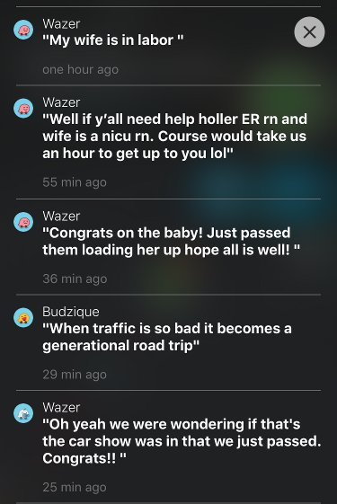 Happy Birthday to the #BabyWazer stuck in #pdxtraffic last night! @waze<br>http://pic.twitter.com/vjFzq963q9
