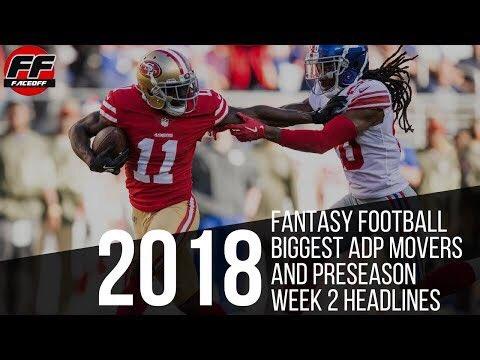 2018 #FantasyFootball Biggest ADP Movers and #nflpreseason Week 2 headlines   Video  https:// youtu.be/yBIeTHlz7fs  &nbsp;    Audio  https:// itunes.apple.com/us/podcast/the -ff-faceoff/id1340277737?mt=2i &nbsp; … )<br>http://pic.twitter.com/HB448pAVXN