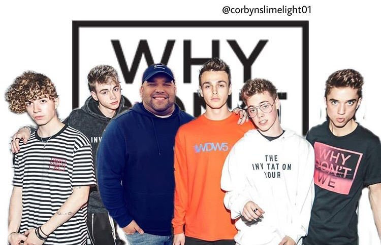 """We finally got some color up in the group and it looks FLAWLESS!!!!! Say hello to the 6th memeber of """"Why Don't We"""". Hello, It's me bish  <br>http://pic.twitter.com/1ypWCtezxJ"""