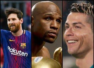 The highest-paid athletes in 2018:   Floyd Mayweather: $285m  Lionel Messi: $111m  Cristiano Ronaldo: $108m  Conor McGregor: $99m  Neymar: $90m  LeBron James: $85.5m  Roger Federer: $77.2m  Stephen Curry: $76.9m   <br>http://pic.twitter.com/GDOvS25f1H